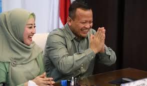 Menteri KKP Edhy Prabowo dan istrinya.